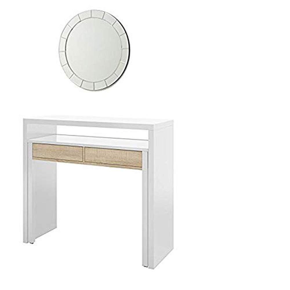 Hogar Decora Mesa Mueble Extensible, Mesa Estudio Consola, Espejo ...