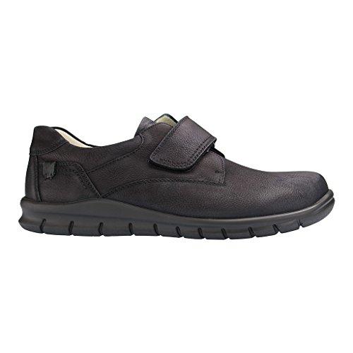 Waldläufer 366301-114-001 Hector uomini scarpe larghezza H per solette sciolti Nero