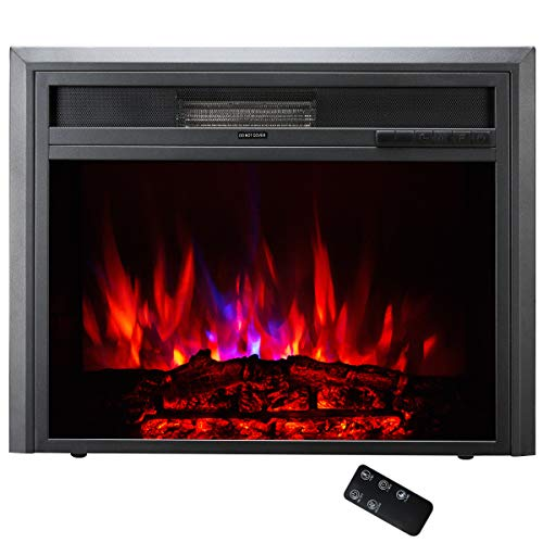 "Cheap TAGI 26"" Embedded Electric Fireplace Insert, Recessed Electric Stove Heater with Remote Control"
