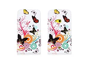 W-RainBow Butterfly And Flower Pattern PU Leather Up And Down Fold Case Cover For Nokia Lumia 625(Pattern 3)Randomly presented a winding rod