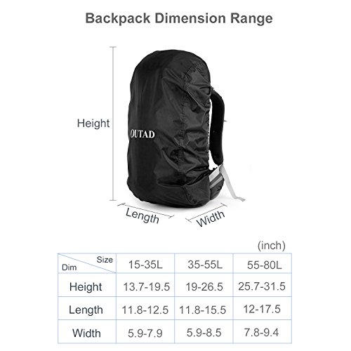 Backpack Rain Cover, Pack Cover, Backpack Waterproof Cover for Hiking, Camping, Climbing, Cycling