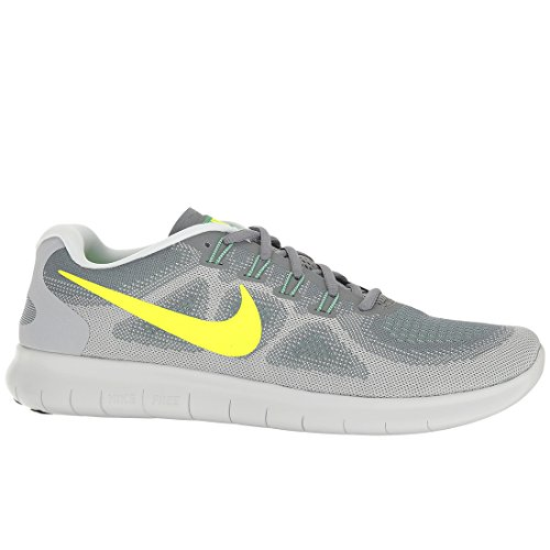 Nike Free RN 2017 sz 10.5 Cool Grey/Volt/Wolf Grey/Ghost Green Men's Running Shoes