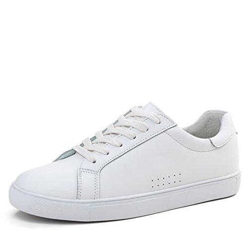 Primavera Zapatos De Cuero Blanco/Zapatos Femeninos De Corea Flat-bottom/Zapatos Del Patín Blanco Del/Zapatos De Los Deportes De Las Mujeres/Los Zapatos De Las Mujeres D