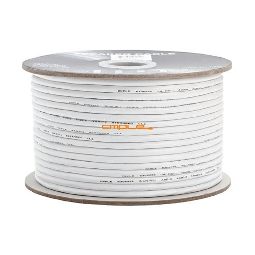 Cmple - 14AWG CL2 Rated 4-Conductor Loud Speaker Cable - 250ft For In-Wall Installation by Cmple