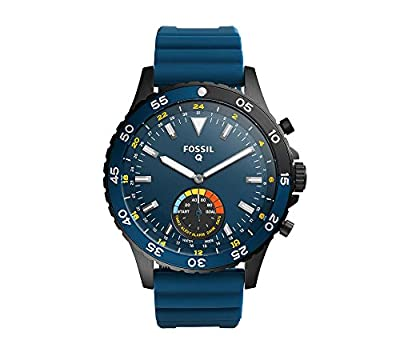 Fossil Q Crewmaster Hybrid Smartwatch With Silicone Strap