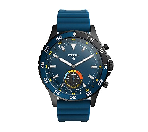 Fossil Hybrid Smartwatch – Q Crewmaster Blue Silicone