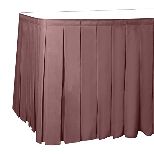 Polyester Box Pleat Table - Ultimate Textile 14 ft. Box Pleat Polyester Table Skirt Mauve