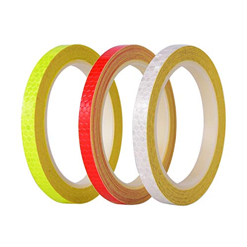 26 Yards in Total Reflective Tape Micro Prismatic Sheeting Safety Reflective Tape, Bicycle Accessories (Color : 3PCS)