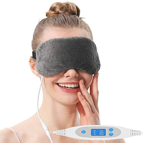 Aroma Season USB Heating Steam Eye Mask, Warm Compress for Dry Eye, Blepharitis, Styes (Gray)