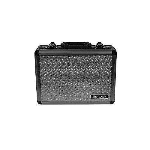 SportLock Cases AlumaLock Double Handgun Case, Gray, Small