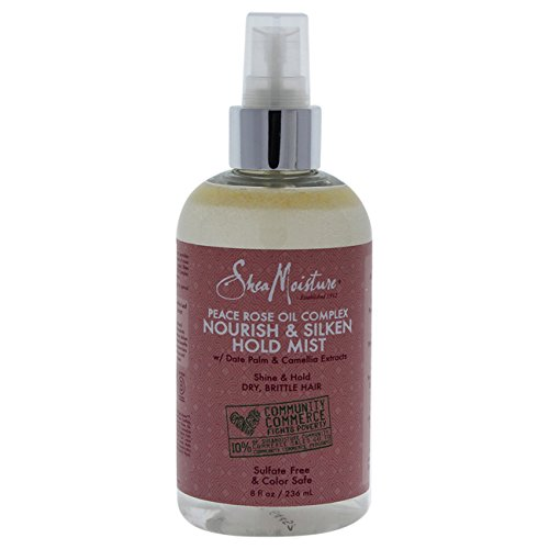Shea Moisture Peace Rose Oil Complex Nourish & Silken Hold Mist for Unisex, 8 (Hold Rose)