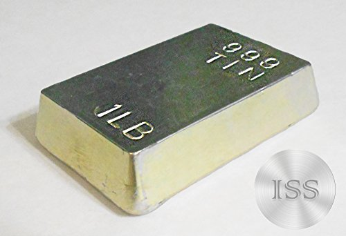 Ingot Collection - Fine .999 Metal (Tin) Each Bar Weighs 1 Pound, Pure 1lb Ingot, Superb Addition to Your Collection, Collectable with Unique Charcatristics, Hand Poured Hand Stamped (Tin Bar)