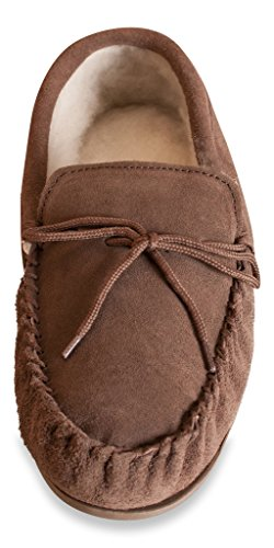 Nordvek # 422-100 - Zapatillas de estar por casa para hombre Beige - Coffee Brown