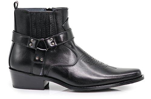 Pictures of Alberto Fellini Men's Western Boots (West01) ( west01_black_11 5