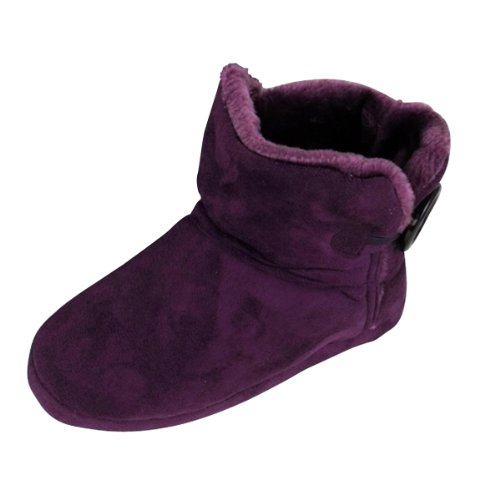 Dunlop mujer Zapatillas Suede para Bootee Purple Reino 8 Ankle Señoras Boot Faux 3 Unido p1wqwdx