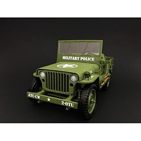 New 1:18 AMERICAN DIORAMA COLLECTION - GREEN Military Vehicle Army Jeep Diecast Model Car By AMERICAN (Military Vehicles 1 18)