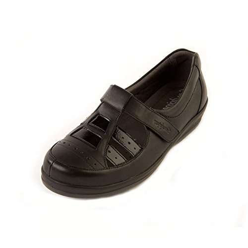 Patent Black Extra Womens Sandpiper Foxton Shoes Wide nqvYxOXw