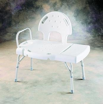 (EA) I-Class(c) Blow-Molded Transfer Bench Unassembled (Bathtub Invacare)