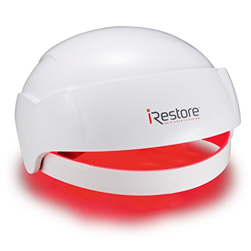 iRestore Laser Hair Growth System - FDA Cleared Hair Loss Treatment for Men and Women with Balding, Thinning Hair - Laser Helmet Uses Regrowth Light Therapy Like Laser Caps, Hats, Combs and (Shine Therapy Straightener)