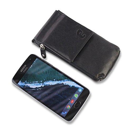 Prenez Votre Mobile Pochette Voyage Plus Grande Sac Iphone 8 et Samsung et Protege Passeport avec RFID SKIMM Proteg/é Pochette Passeport Cuir Pochette Tour de Cou