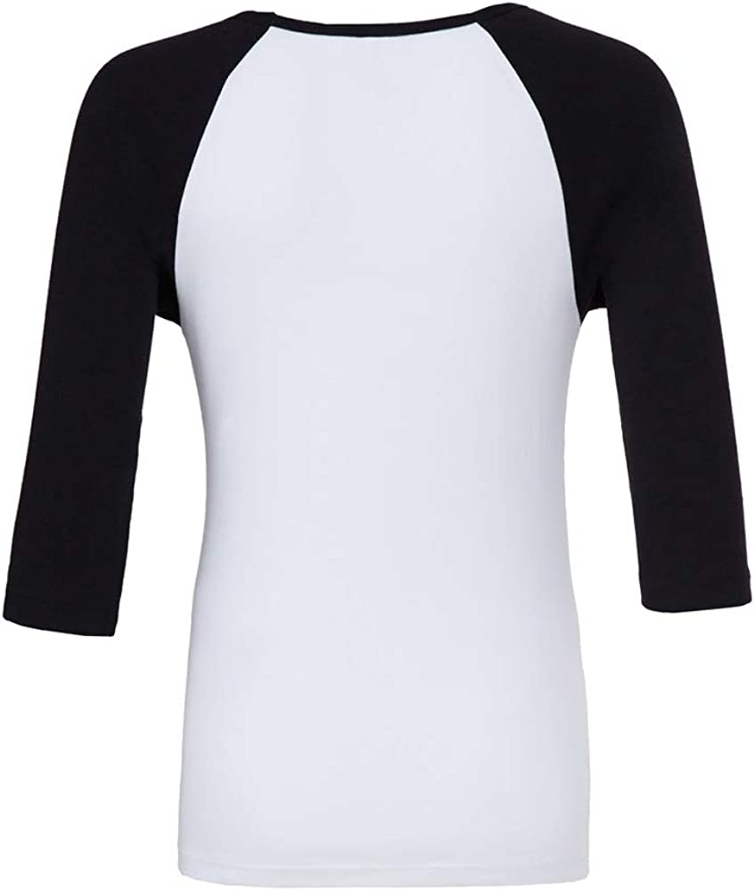MSBASIC Maglietta a Maniche Corte in Jersey di Cotone con Maniche a 3//4 T-Shirt da Baseball