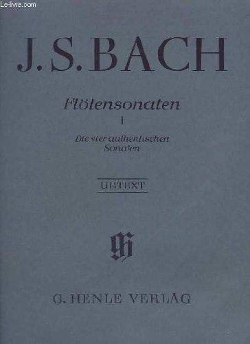 Flötensonaten : Für flöte und klavier. II, ,  II   Bach, Johann Sebastian (1685-1750). Compositeur