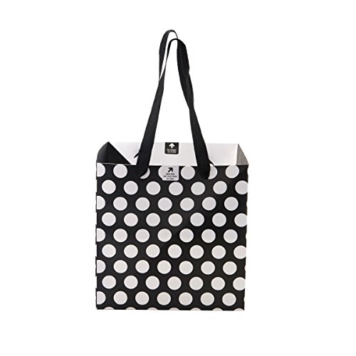 BUILT NY Origami Pinwheel Bag, Medium, Big Dot Black & White