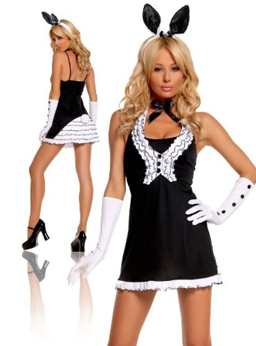 Playboy Bunny Costume Plus Size (Black Tie Bunny Medium)
