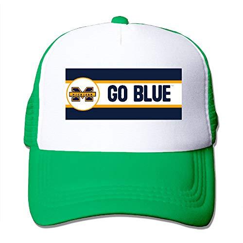 - Fa8Cai Cloth Unisex Adjustable Flat-Brim Dad Hat Baseball Caps - Michgan MI GOBLUE Skull Cap
