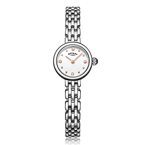Rotary Women's LB05052/02 Cocktail Analog Display Quartz Silver Watch