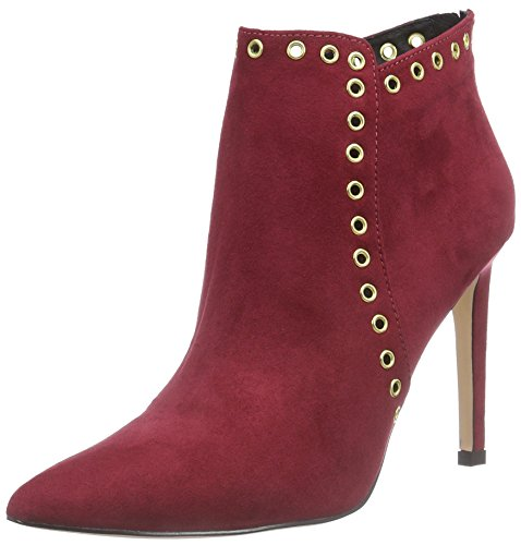 La Strada Bordeaux Rote Suède-Look Damen Kurzschaft Stiefel Rot (2231 - micro bordeaux)