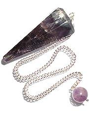 Péndulo cónico de cristal para radiestesia y sanación - gemas naturales genuinas