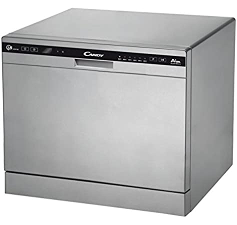 Candy CDCP 8/E-S - Lavavajillas (Independiente, Plata, Compacto, Negro, Plata, botones, Condensación): Amazon.es: Grandes electrodomésticos