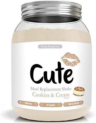 Cute Nutrition Batido Sustitutivo de Comida Sabor Galletas y Crema para el Control de la Pérdida de Peso en Polvo Bebida Dietética para Mujer Bote de 500 g: Amazon.es: Salud y cuidado