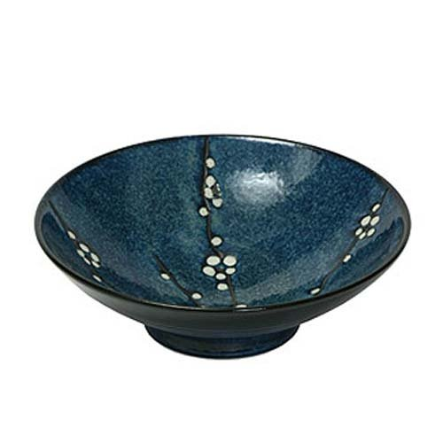 Japanese Blue Namako Blossoms Bowl by - Stoneware Japanese