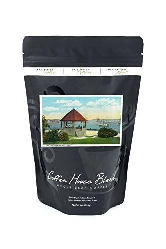 Bean Casco Bay - Portland, Maine - Fort Allen Park View of Casco Bay (8oz Whole Bean Small Batch Artisan Coffee - Bold & Strong Medium Dark Roast w/Artwork)