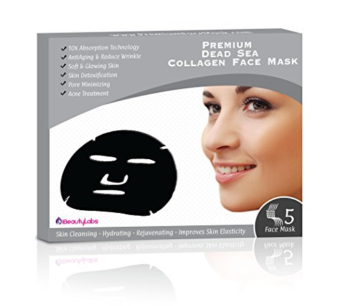[Dead Sea Collagen Anti Aging Facial Mask By iBeautyLabs - Moisturizing, Rejuvenating, Toning, Pore Minimizing Acne Treatment - 10x Absorption Rate- For All Skin Types- Pack Of] (Doe Costume Diy)