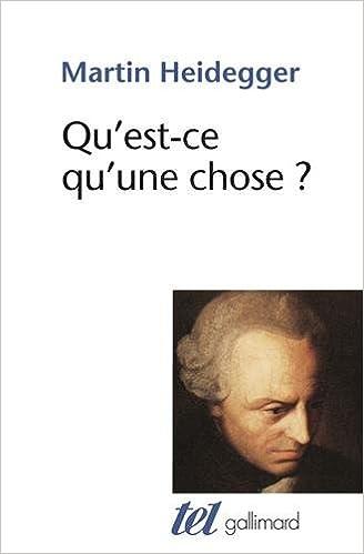 Livre gratuits en ligne Qu'est-ce qu'une chose? pdf ebook