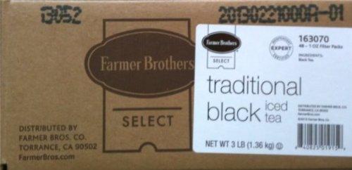 - Farmer Brothers Black Tea Bags, Iced Tea-48 count, 1 oz each
