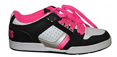 Osiris Skateboard Shoes Harlem Girls Black/ White/ Pink/ Silver sneakers Shoes