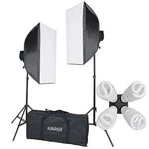 StudioFX 1600 WATT H9004S Digital Photography Continuous Softbox Lighting Studio Video Portrait Kit H9004S by Kaezi