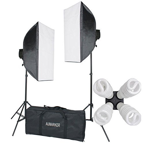 StudioFX 1600 WATT H9004S Digital Photography Continuous Softbox Lighting Studio Video Portrait Kit H9004S by Kaezi