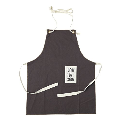 Hallmark Home Cotton Apron with Pocket, Brown Full Length Lightweight Men's Apron with
