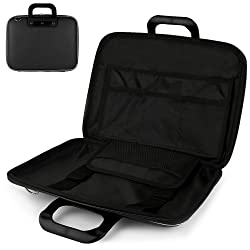 Uniquely designed SumacLife Brand Black Ultra Durable Reinforced 10 Inch Cady Hard Shell Sports Bag for all models of the Fuhu NABI 2 Tablet (Fuhu NABI NABI2-NV7A, BUMPER-PNK-01-FA12, 7-Inch Tablet with Bumper)