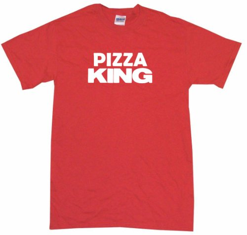 (Pizza King Men's Tee Shirt Large-Red)