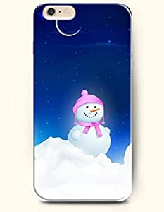 OOFIT Phone Case for iPhone 6 Plus 5.5 Inches with the Design of Adorable Snowman