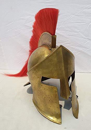 Sara Nautical Medieval Greek Spartan Helmet with Red