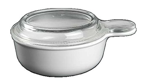 Corning Ware White Coupe Grab It w/ Lid ( 5 1/2
