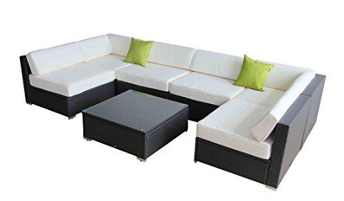 Outdoor Rattan Set 7 Pcs Sofa Wicker Sectional Garden Patio Furniture Broyerk price