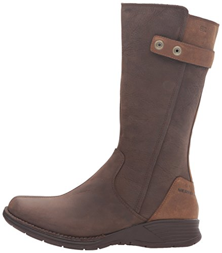 Merrell Womens/Ladies Travvy Tall Waterproof Leather Country Boots Clay